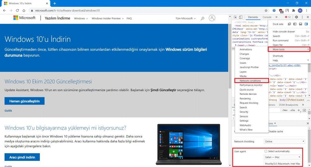 Windows 10'u Google Chrome üzerinden indirin